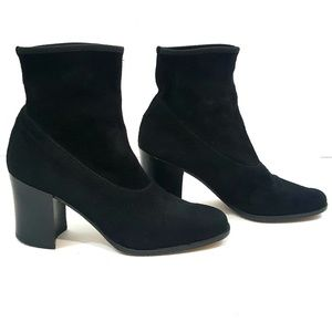 Ann Taylor Leather Suede Booties